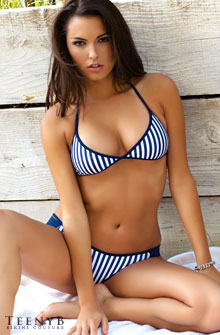 Blue Striped Bikini