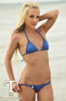 blue whaletail thong bikini
