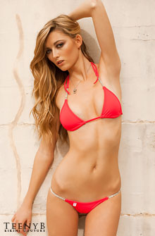 Katie Juergens in a red Brazilian bikini