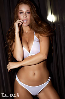 Leanna Decker in white thong panties