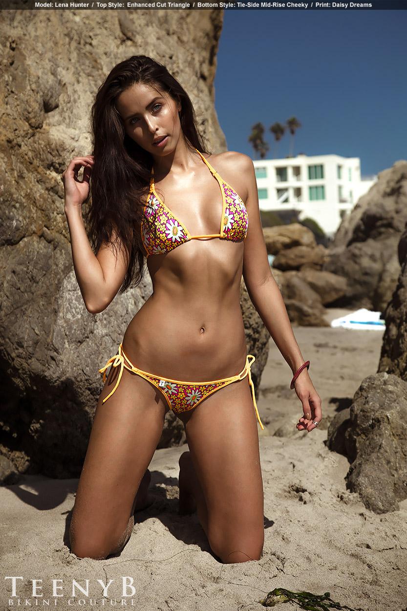 Lena Hunter In A Floral Print Bikini