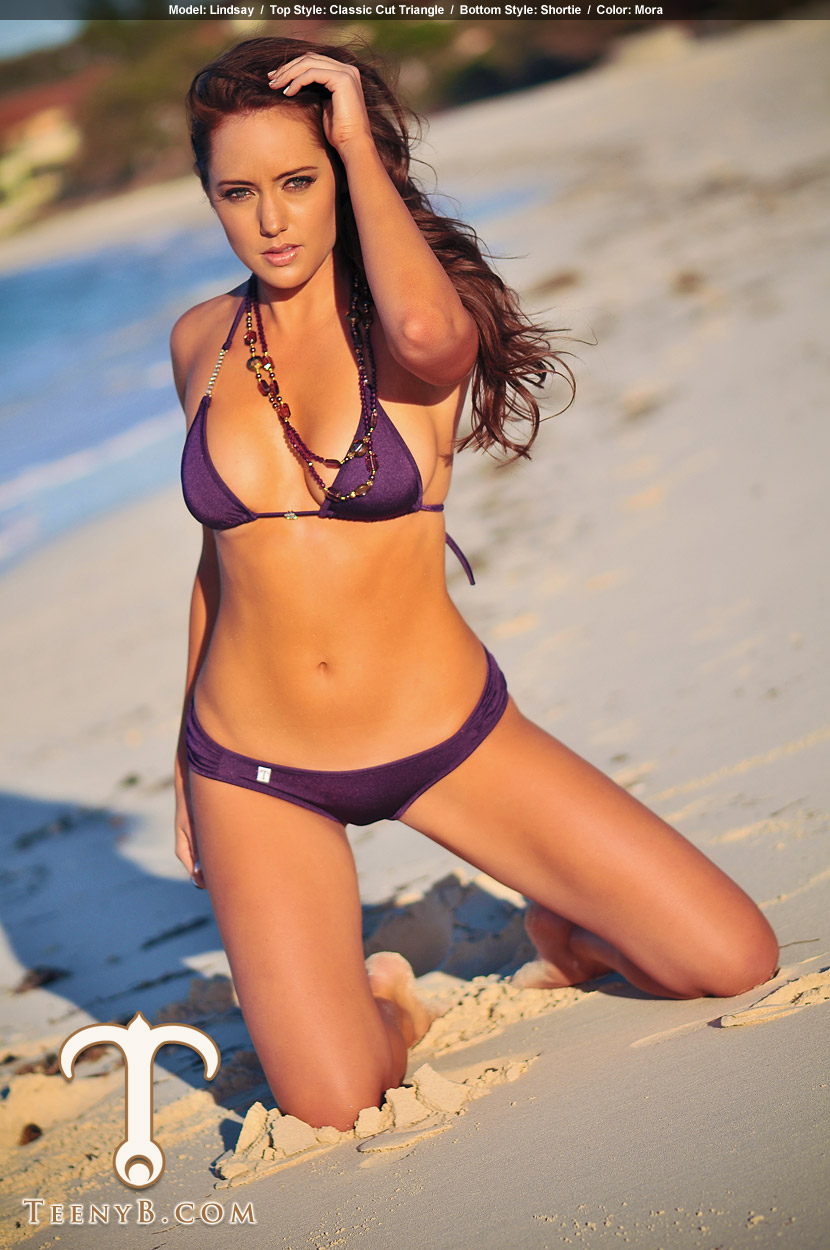 Tipi Model In Purple Thong Part 1 | Black Models Picture