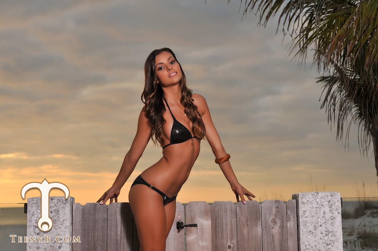 Shiny black bikini