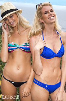 Violet Louise Marie and Jessie Keener in Brazilian bikinis
