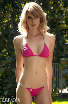 Violet Louise Marie in a pink Oasis bikini